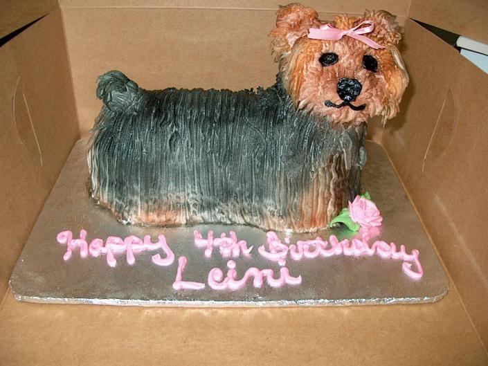 Yorkie Birthday Cake Party Cakes Gallery