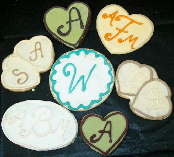 Personalized cookies for wedding